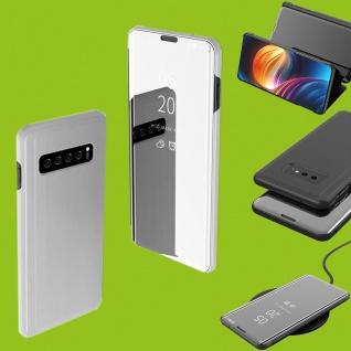 Für Samsung Galaxy S10 Lite / S10E G970F Clear View Smart Cover Silber Tasche