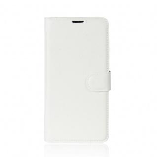 Tasche Wallet Premium Weiß für Wiko Sunny 2 Hülle Case Cover Etui Schutz Zubehör - Vorschau 2