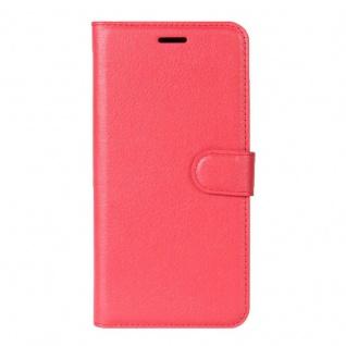 Tasche Wallet Premium Rot für Motorola Moto Z2 Play Hülle Case Cover Etui Schutz - Vorschau 2