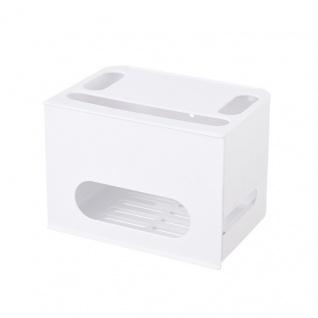 WiFi Router Aufbewahrungs Box Ablage Weiß Zubehör Storage Schub Schublade