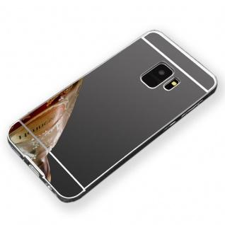 Mirror Alu Bumper 2teilig Schwarz für Samsung Galaxy S9 G960F Tasche Hülle Case