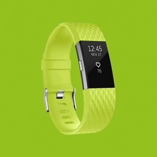 Für Fitbit Charge 2 Kunststoff / Silikon Armband für Männer / Größe L Grün Uhr