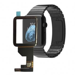 Touchscreen Glas für Apple Watch 38mm Reparatur mit Flex Kabel Digitizer Schwarz