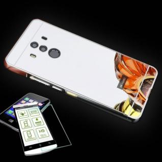 Alu Bumper 2 teilig Silber + 0, 3 H9 Panzerglas für Huawei Mate 10 Pro Tasche Neu