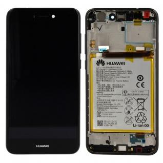 Huawei Display LCD Einheit Rahmen für P8 Lite 2017 Service Pack 02351CTJ Schwarz