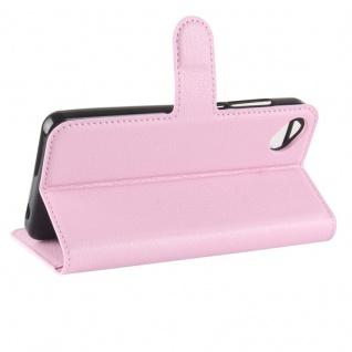 Tasche Wallet Premium Rosa für Wiko Sunny 2 Plus Hülle Case Cover Etui Schutz - Vorschau 5