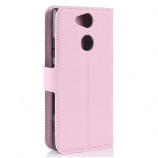 Tasche Wallet Premium Rosa für Sony Xperia XA2 Hülle Case Cover Schutz Etui Neu - Vorschau 3