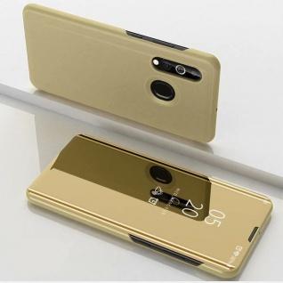 Für Samsung Galaxy A20S A207F View Smart Cover Hülle Gold Handy Tasche Etuis Neu