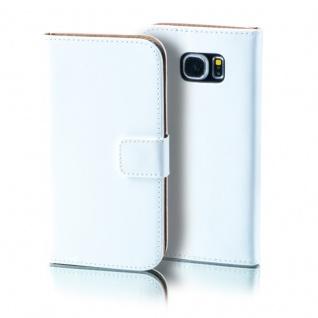 Schutzhülle Weiß für Samsung Galaxy S7 Plus Bookcover Tasche Hülle Case Etui Neu