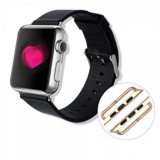 Premium Metall Adapter Halter Armband Farbe Gold für Apple Watch 38mm Zubehör