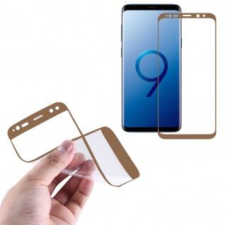 Hybrid TPU gebogene Panzerfolie Folie Gold Schutz für Samsung Galaxy S9 G960F