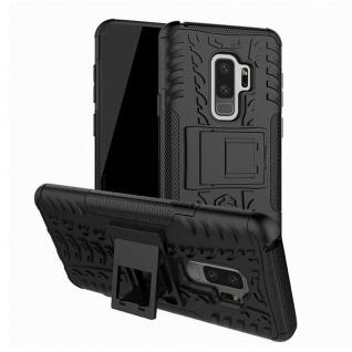 Hybrid Case 2teilig Outdoor Schwarz Tasche Hülle für Samsung Galaxy S9 G960F Neu