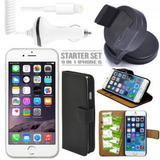 9 in 1 Zubehör SET für Apple iPhone 6 4.7 Tasche Hülle KfZ Halterung Kabel Folie