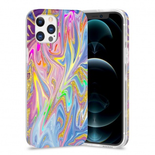 Für Apple iPhone 12 Pro Max TPU Watercolor Schutz Hülle Cover Etui Motiv 1