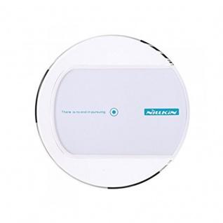 Universal Induktive Wireless Ladestation kabelloses Laden Qi NFC Dock Rund Weiss