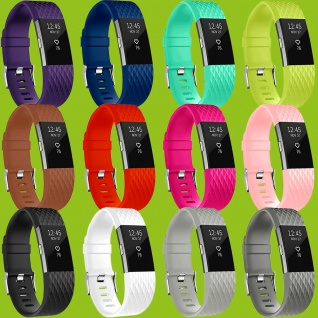 Hochwertiges Kunststoff / Silikon Uhr Armband für Fitbit Charge 2 Zubehör Neu