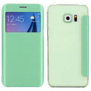Smartcover Window Grün für Samsung Galaxy S6 Edge Plus G928 F Tasche Hülle Case