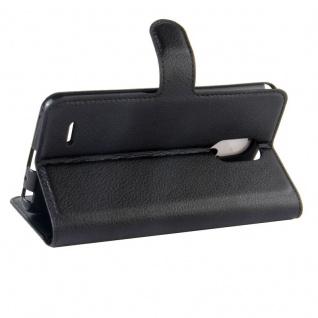 Tasche Wallet Premium Schwarz für LG Stylus 3 Hülle Case Cover Etui Schutz Neu - Vorschau 5