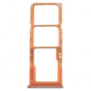 Dual Sim Karten Halter für Samsung Galaxy A70 Orange Card Tray Micro SD Ersatz - Vorschau 2
