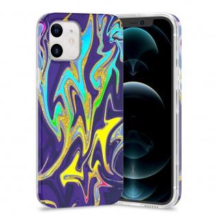 Für Apple iPhone 12 Mini TPU Watercolor Schutz Tasche Hülle Cover Etui Motiv 3