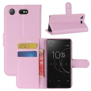 Schutzhülle Rosa für Sony Xperia XZ1 Compact / Mini Bookcover Tasche Case Cover