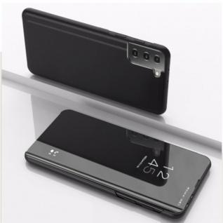 Für Samsung Galaxy S21 Plus View Smart Cover Hülle Schwarz Handy Tasche Etuis