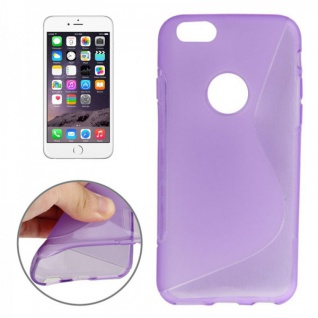 Silikon Case S-Line Bull Eye Lila für Apple iPhone 6 4.7 Hülle Cover Kappe Neu