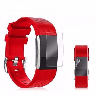 2x HD Display Schutz Folie Fitbit Charge 2 Schutz Folie LCD Zubehör Hülle Neu