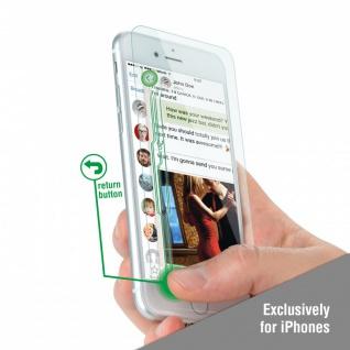 3D 0, 3 mm Zusatz Buttons Panzerglas Folie für Apple iPhone 7 6S 6 mit Dual Touch