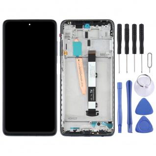 Für Xiaomi Poco X3 Display Einheit Touch mit Rahmen Ersatzteil Reparatur Schwarz