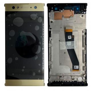 Sony Display LCD Komplett mit Rahmen für Xperia XA2 Ultra Gold Ersatz Reparatur