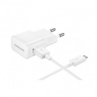 Samsung EP-TA12EWE EU USB 3.0 Ladegerät Micro USB Datenkabel Lader Weis 2000 mAh