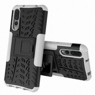 Für Huawei P Smart Plus Hybrid Case 2teilig Outdoor Weiß Tasche Hülle Cover Neu