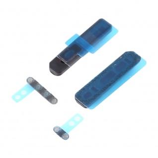Staubdichter Lautsprecher Schutz für Apple iPhone X Schwarz Ersatzteil Zubehör - Vorschau 3