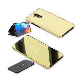 Für Huawei P30 Pro Clear View Smart Cover Gold Etuis Tasche Hülle Wake UP Case - Vorschau 3