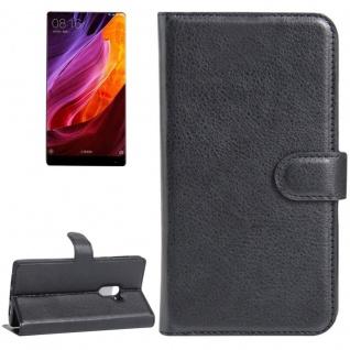 Tasche Wallet Premium Schwarz für Xiaomi Mi MIX Hülle Case Cover Etui Schutz Neu
