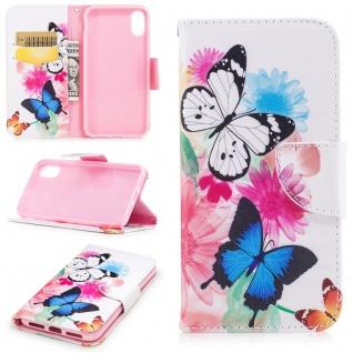 Tasche Wallet Motiv 33 für Apple iPhone X 5.8 Zoll Hülle Case Etui Cover Schutz