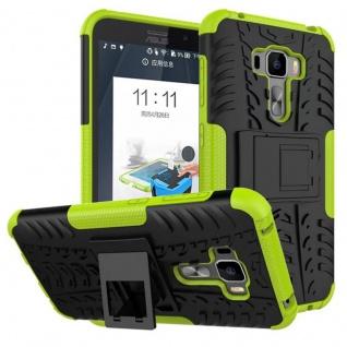 Für ASUS Zenfone 3 ZE552KL 5.5 Hybrid Case 2teilig Outdoor Grün Tasche Hülle Neu