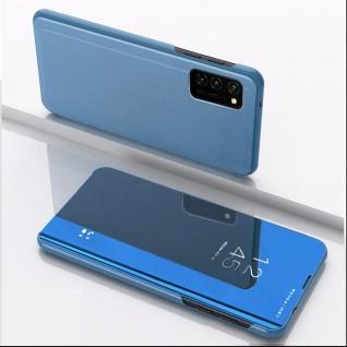 Für Samsung Galaxy S20 FE View Smart Cover Blau Handy Tasche Cover Etuis Wake UP