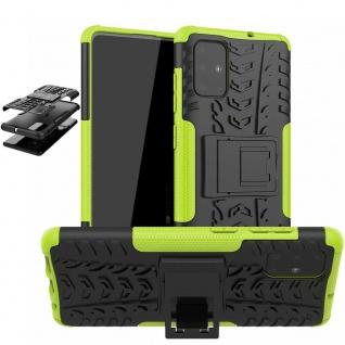 Für Samsung Galaxy S10 Lite G770F Hybrid 2teilig Outdoor Grün Handy Tasche Cover