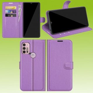 Für Motorola Moto G30 / G10 Smart Handy Tasche Lila Etuis Kunst-Leder Hülle Case