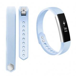 Für Fitbit Alta HR Kunststoff / Silikon Armband für Frauen / Größe S Light Blue