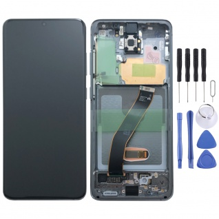 Samsung Display Ersatz LCD Komplett für Galaxy S20 G981F 5G GH82-22123A Grau