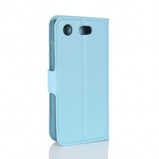 Schutzhülle Blau für Sony Xperia XZ1 Compact / Mini Bookcover Tasche Case Cover - Vorschau 3