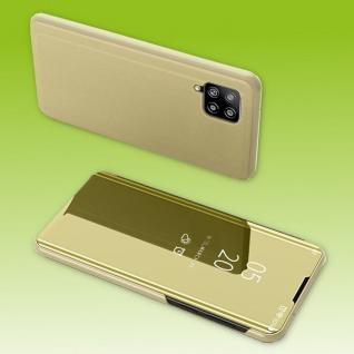 Für Samsung Galaxy A42 5G View Smart Cover Hülle Gold Handy Tasche Etuis Case
