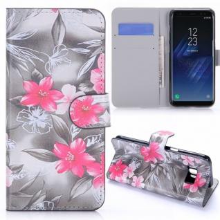 Schutzhülle Motiv 34 für Samsung Galaxy S8 G950 G950F Tasche Hülle Case Flip Neu