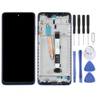 Für Xiaomi Poco X3 Display Einheit Touch mit Rahmen Ersatzteil Reparatur Blau