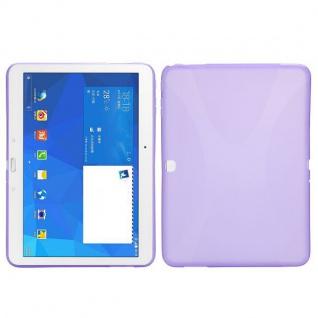 Silikonhülle Lila für Samsung Galaxy Tab 4 SM-T530 T530 Hülle Case Cover Kappe