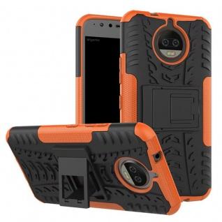 Hybrid Case 2teilig Outdoor Orange Tasche Hülle für Motorola Moto G5S Plus Etui