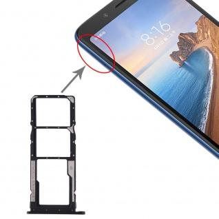 Sim Card Tray für Xiaomi Redmi 7A Schwarz Karten Halter Schlitten Holder Ersatz